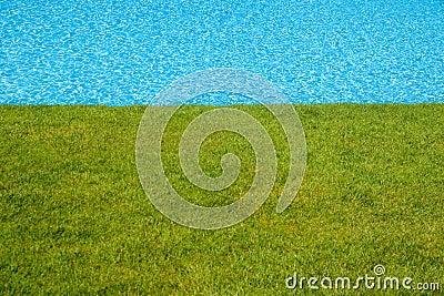 Blue Pool Beside Green Lawn