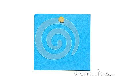 Blue post it