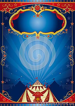 Blue poster circus