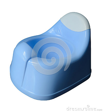 Blue Potty For Little Child Stock Photo Image 42110251