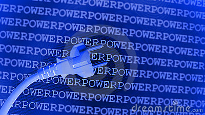 Blue power background