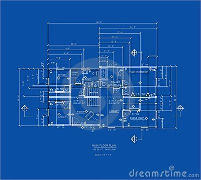Blue print main floor