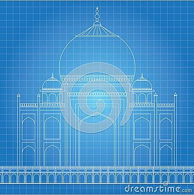 Gallery For > Taj Mahal Blueprint