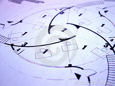 Blue prints Stock Photo
