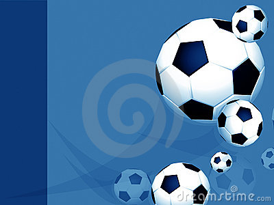 Blue professional soccer football layout
