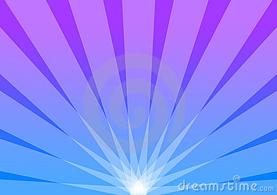 Blue and Purple Background Radiant Sunburst