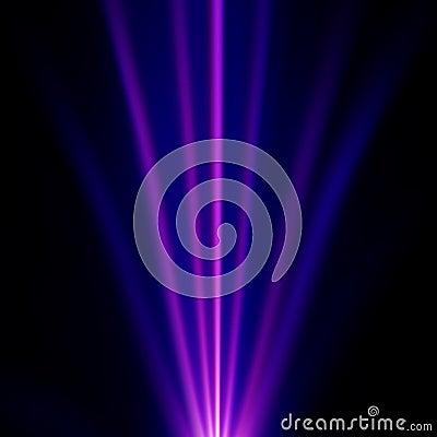 Blue and purple light