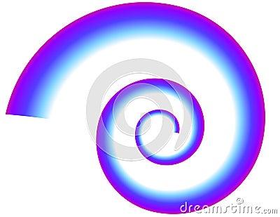 Blue-Purple Spiral