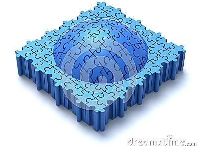 Blue Puzzle Dome