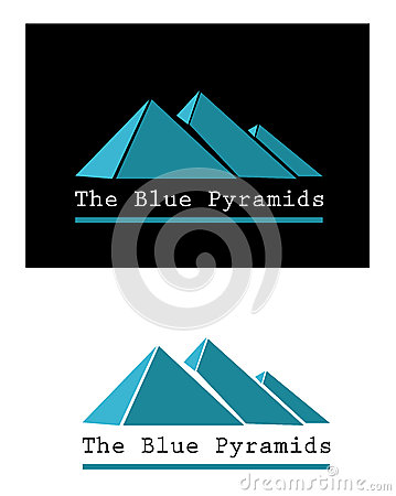 Blue pyramid signs