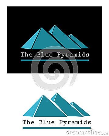 Blue pyramid signs