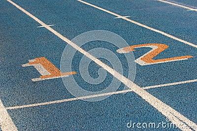Blue racetrack