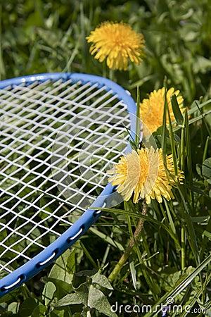 Blue racket