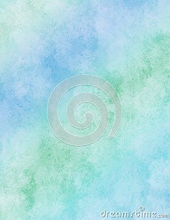 Blue rainbow watercolor paper