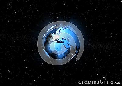 Blue ray earth