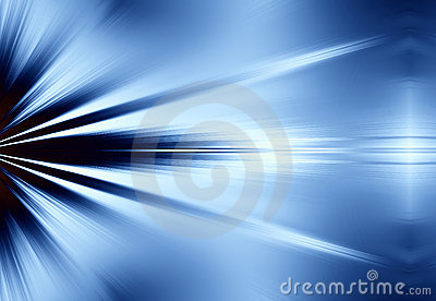 Blue Rays of Light Background