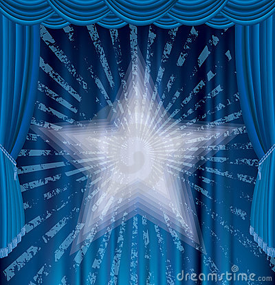 Blue Rays Stage Stock Photography - Image: 23314952