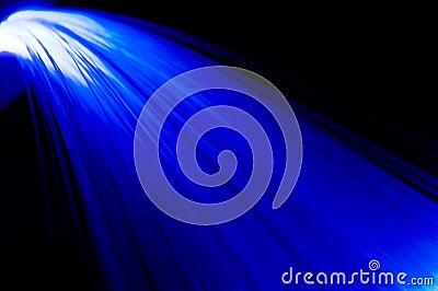 Blue rays waterfall