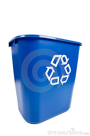 Free Blue Recucle BIn - Recycling, Environmental Theme Stock Photo - 10650150