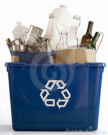 Free Blue Recycle Bin Royalty Free Stock Photo - 9528735