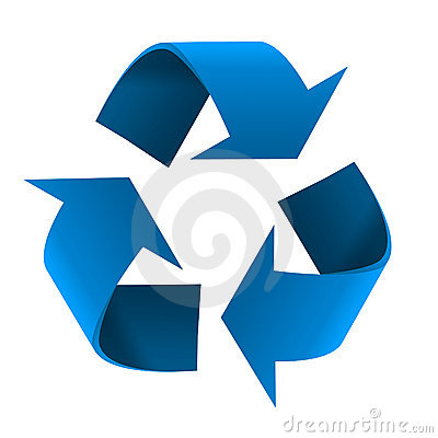 Blue Recycling Symbol
