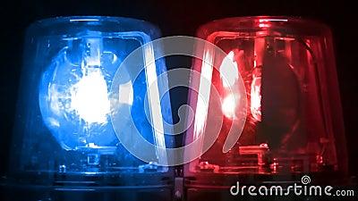 Emergency Strobe Lights >> Blue & Red Flashing Emergency Lights Stock Video - Video ...