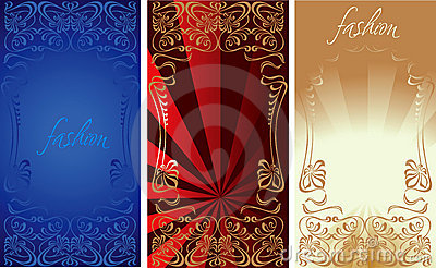 Blue Red Gold Fashion Background