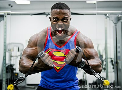 Blue And Red Superman Print Tank Top Shirt Free Public Domain Cc0 Image
