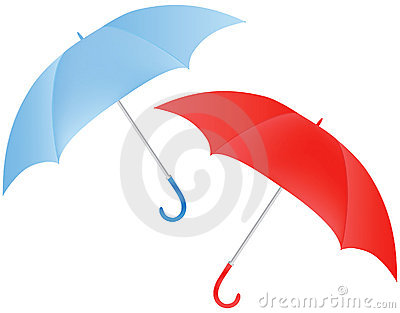 Blue And Red Umbrella Stock Photo - Image: 15464480