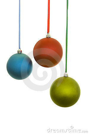 Blue, Red and Yellow Christmas Balls