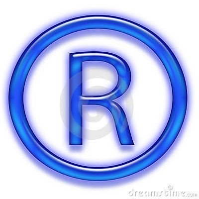 Blue registered trademark symbol
