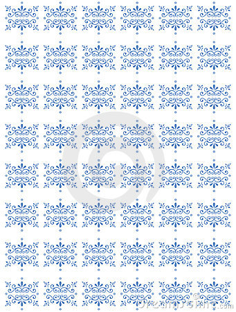 Blue repetitive floral pattern