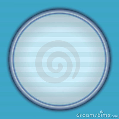 Blue retro background with round