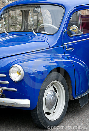 Blue Retro french car