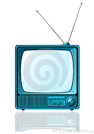 Blue Retro TV