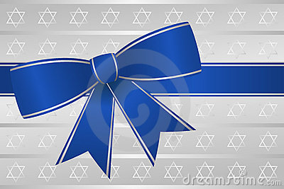 Blue Ribbon Bow Hanukkah