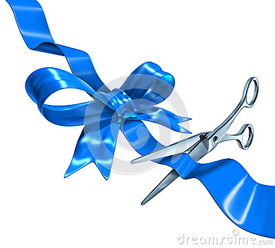 Free Blue Ribbon Cutting Royalty Free Stock Image - 29322816