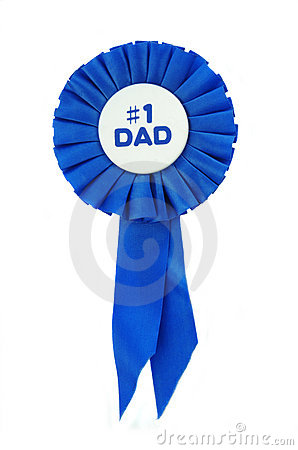 Free Blue Ribbon For Dad Royalty Free Stock Images - 9477149