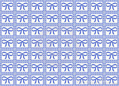 Blue Ribbon Pattern