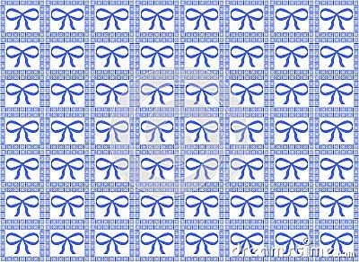 Blue Ribbon Pattern