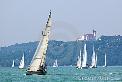 Blue Ribbon sailing event Editorial Stock Image