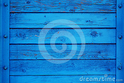 Blue Rich Wood Background