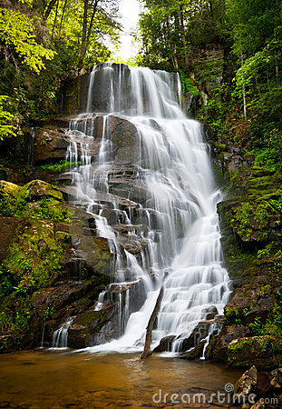 Free Blue Ridge Mountains Waterfall Landscape NC Stock Image - 20019911