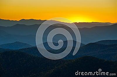 Blue Ridge Parkway Appalachian Mountains Layers