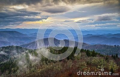 Blue Ridge Parkway Appalachians Smoky Mountains NC