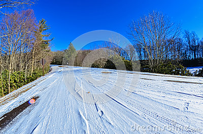 Blue ridge parkway winter scenes
