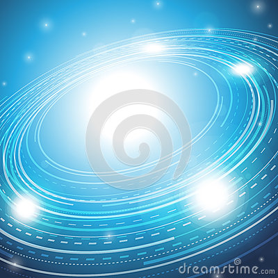 Blue Ring Star Background