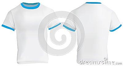 blue ringer t shirt stock vector image 75359038. Black Bedroom Furniture Sets. Home Design Ideas