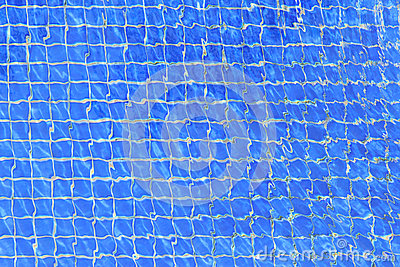 Blue ripple water in swimming pool