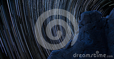 Blue Rock Star Trails
